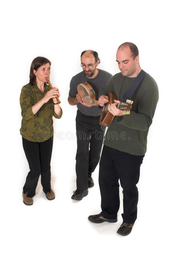 Band playing celtic music royalty free stock images