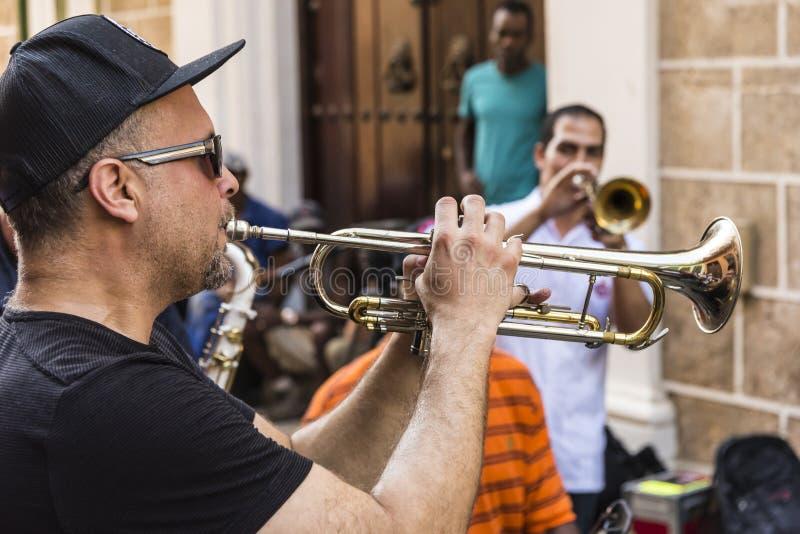 Band playing Havana royalty free stock photos