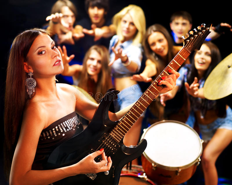 Download Band Playing Musical  Instrument. Stock Image - Image: 26060387