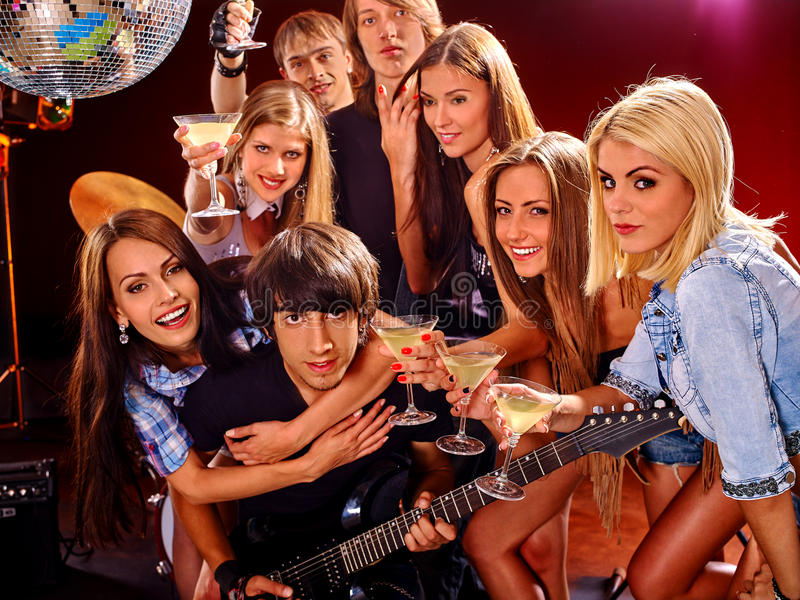 Band playing musical instrument stock photo