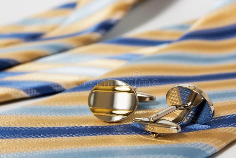 Band, riem en cufflinks royalty-vrije stock afbeelding