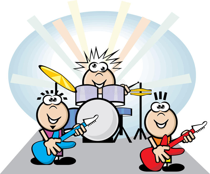 band rocken royaltyfri illustrationer