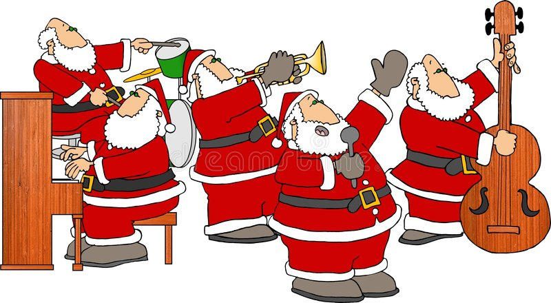 Download Band santa stock illustrationer. Illustration av piano, komiker - 40228