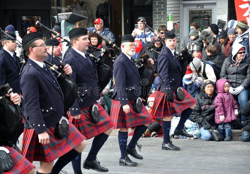 Band In The Santa Parade Editorial Stock Image