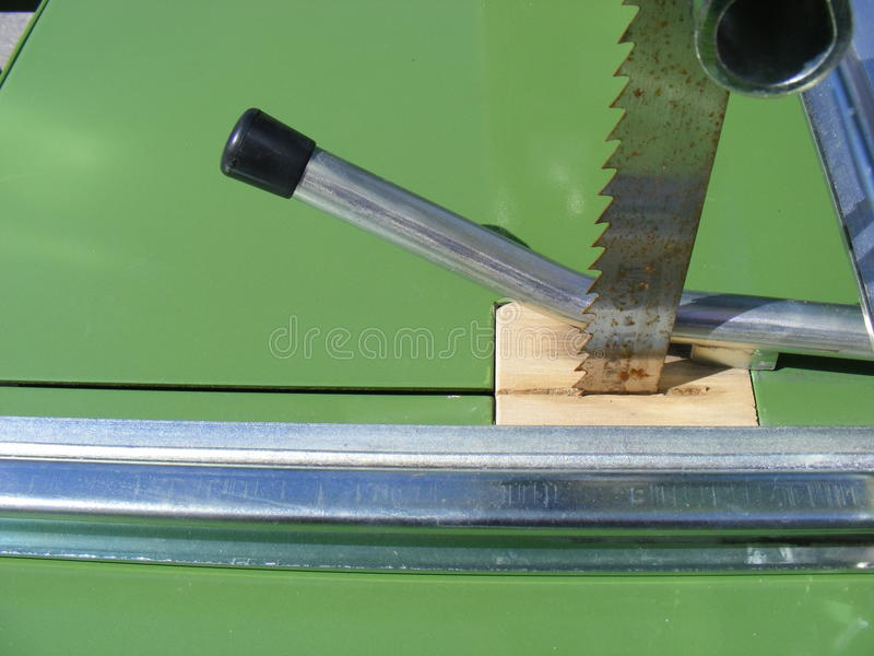 Band saw. Closeup image of the band saw stock images