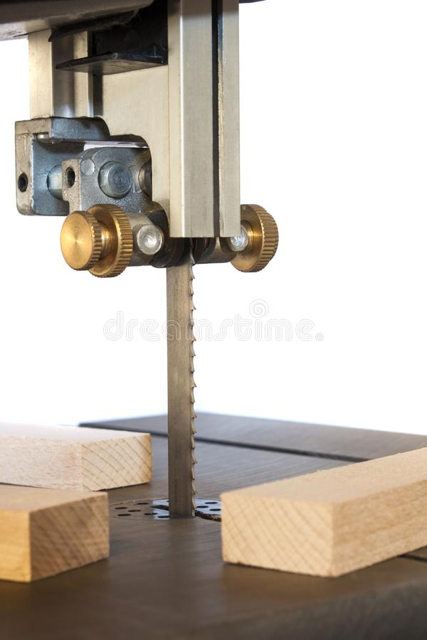 Band saw machine. And planks royalty free stock photography