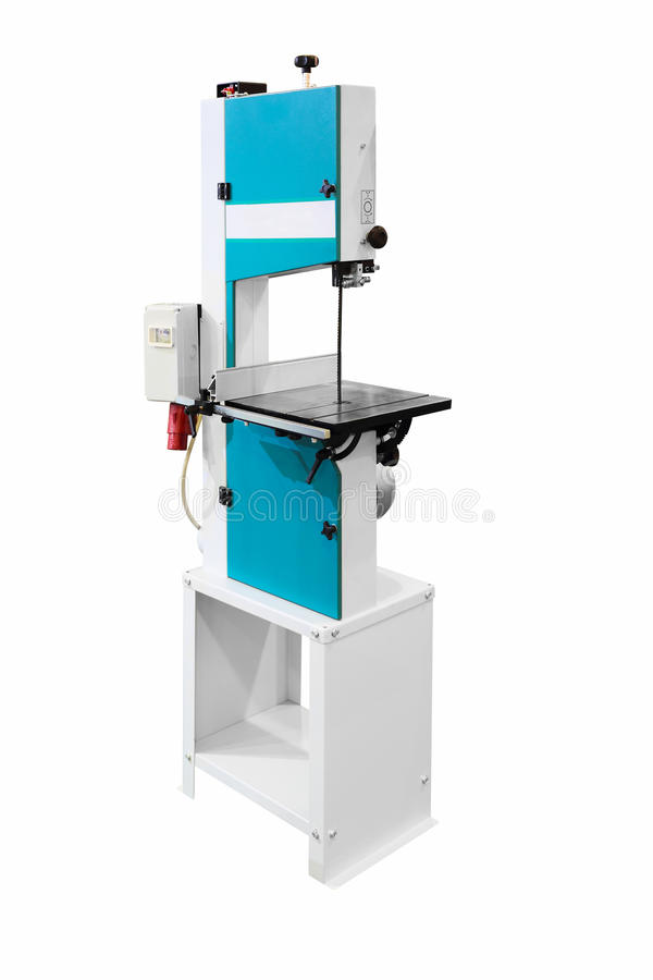 Band saw machine. Industrial band saw machine isolated on white royalty free stock images