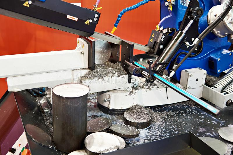 Band saw machine. With metal part royalty free stock photography