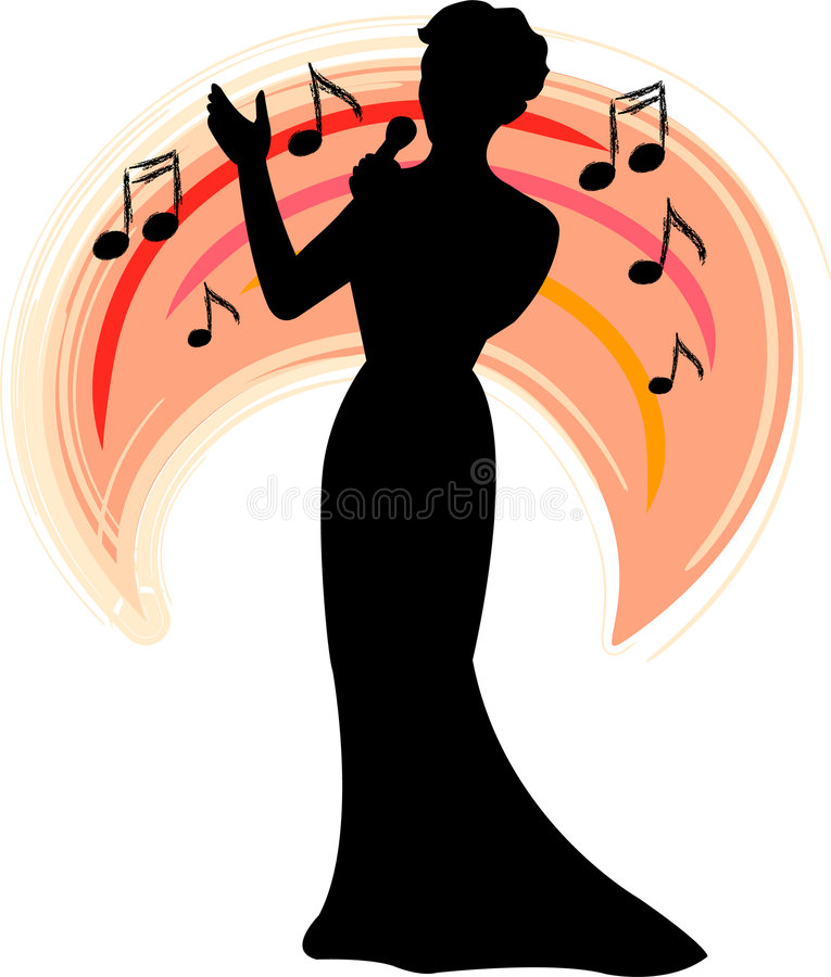 Band Singer/ai stock illustratie