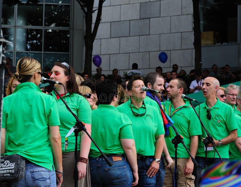 A Band singing at Dublin LGBTQ Pride Festival 2010 stock photography