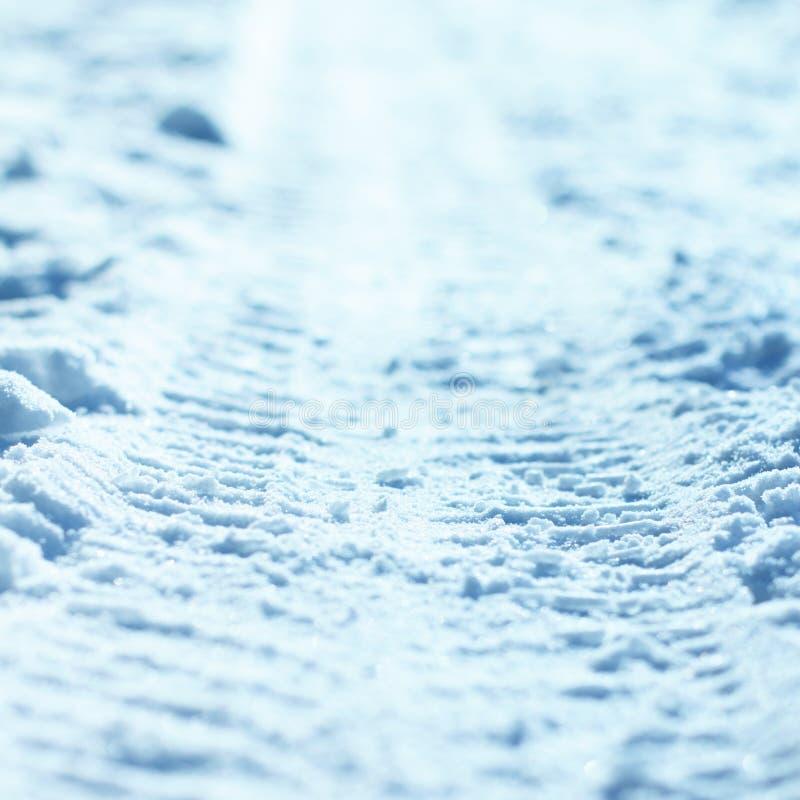 Band in sneeuw stock afbeeldingen