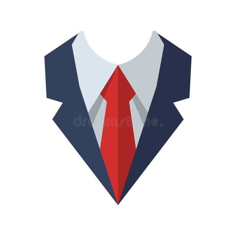 Band som isoleras på bakgrund Plan symbol för slips stock illustrationer