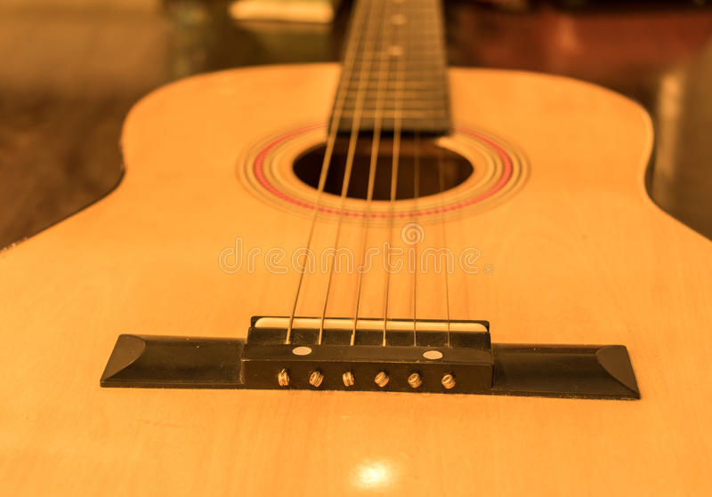 Guitar instrumental stock image  Image of brown, musical