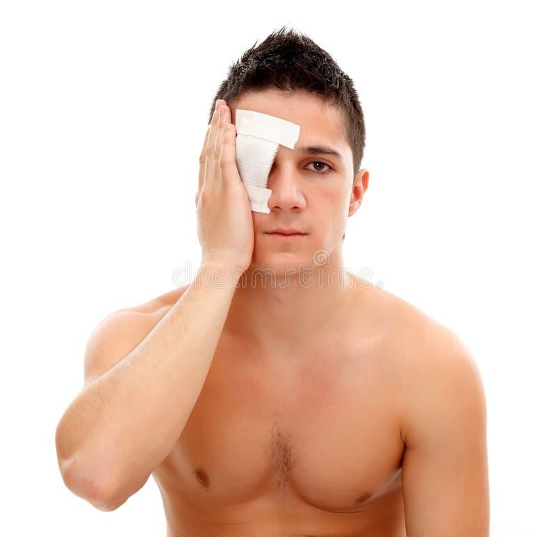bandaża gazy mężczyzna fotografia stock