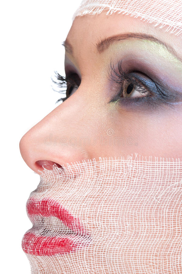 bandaża portreta kobieta obrazy stock