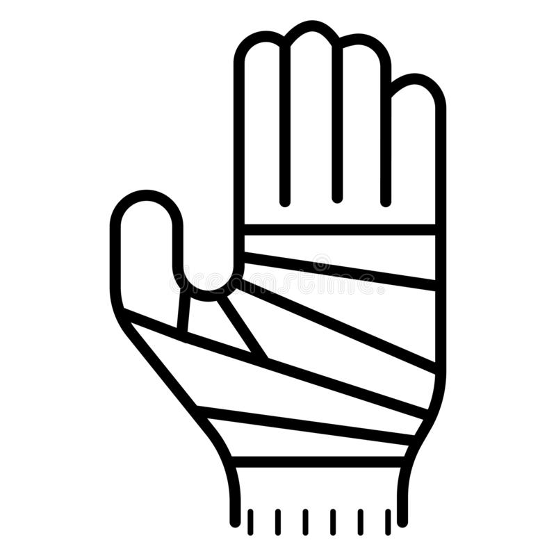 Bandażująca ręki ikona royalty ilustracja