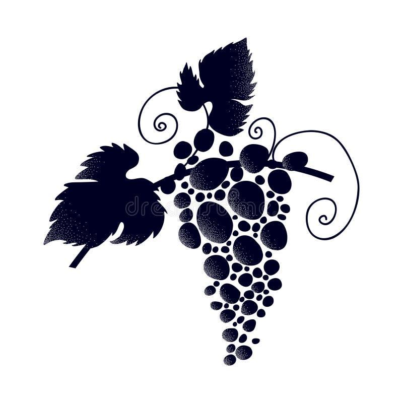 banda ścinku zawierać ścieżka winogron Wino festiwal ilustracja wektor