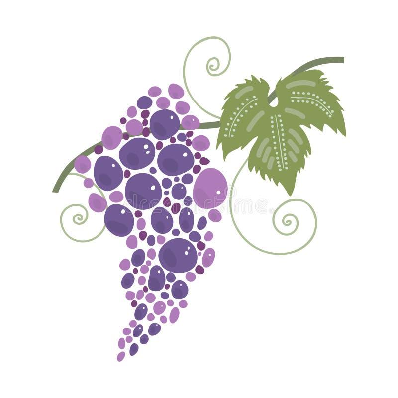 banda ścinku zawierać ścieżka winogron Wino festiwal ilustracji
