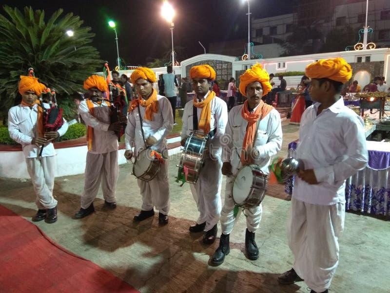 Banda artística en el vestido de Rajasthani imagen de archivo libre de regalías