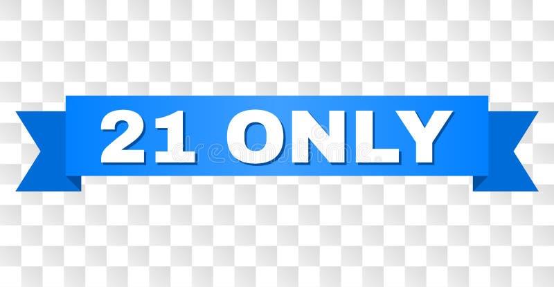 Banda blu con il SOLO titolo 21 illustrazione di stock