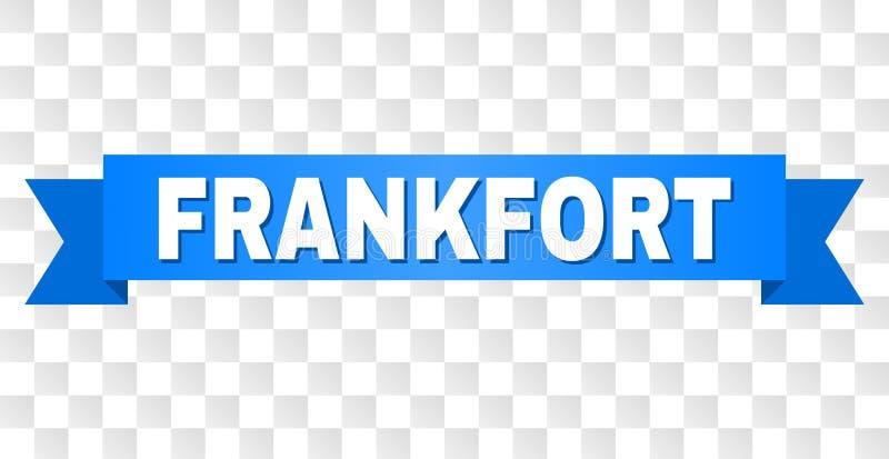 Banda blu con il testo di FRANKFURTER illustrazione di stock