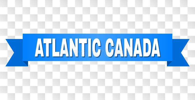 Banda blu con il titolo ATLANTICO del CANADA illustrazione vettoriale