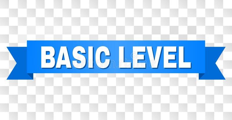 Banda blu con il titolo del LIVELLO di BASIC illustrazione di stock