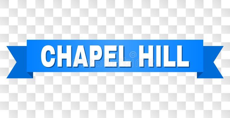 Banda blu con il titolo di CHAPEL HILL royalty illustrazione gratis