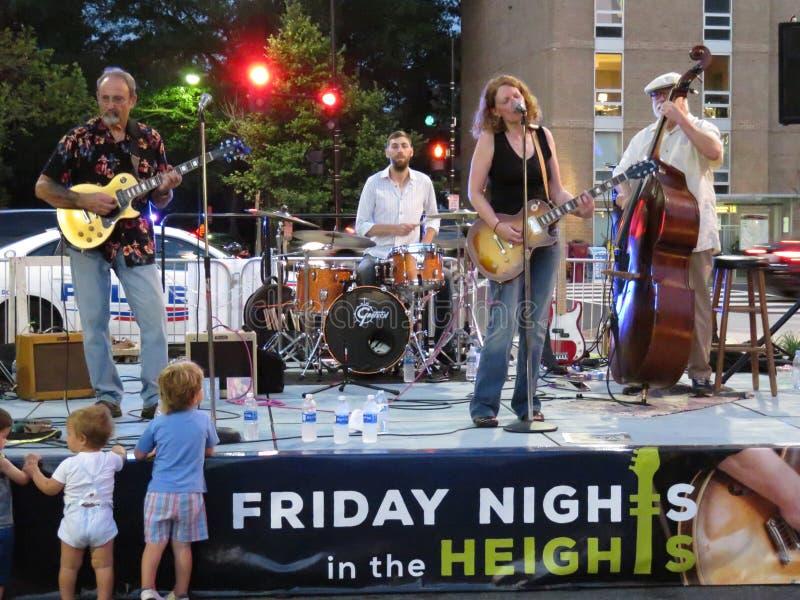 Banda de azules del verano en la noche en DC fotografía de archivo libre de regalías