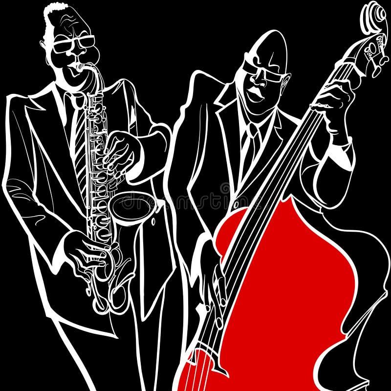 Banda de jazz ilustración del vector