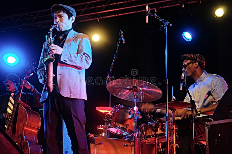 Banda de jazz 19 de Gregory Porter imagen de archivo