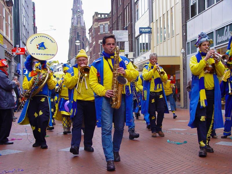 Banda de la música del carnaval imagenes de archivo