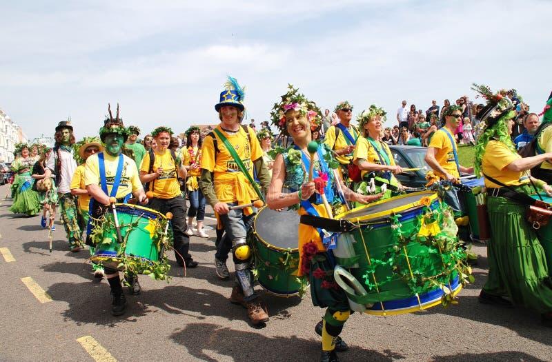 Banda de la samba de Sambalanco, Hastings fotos de archivo