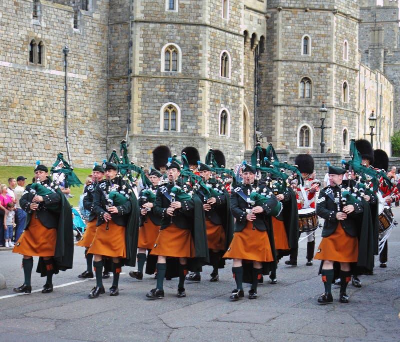 Banda de los guardabosques irlandeses reales foto de archivo libre de regalías