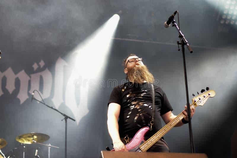 Banda de metal dos povos de Hellfest 2016 do lmöld do ¡ de Skà fotografia de stock royalty free