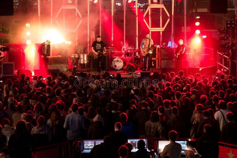 Banda de Mogwai en concierto en Tibidabo Live Festival foto de archivo libre de regalías