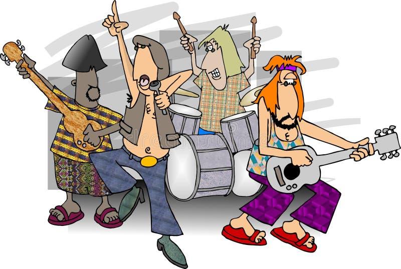 Banda de rock ilustración del vector