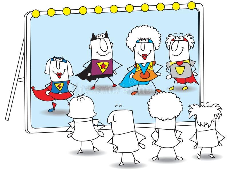 Banda de super héroes libre illustration