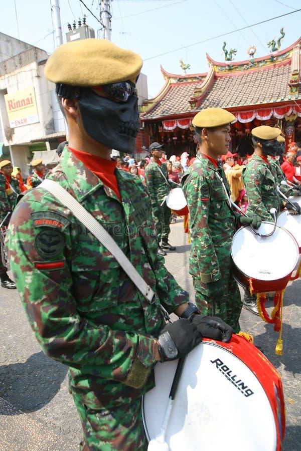 Banda del ejército foto de archivo