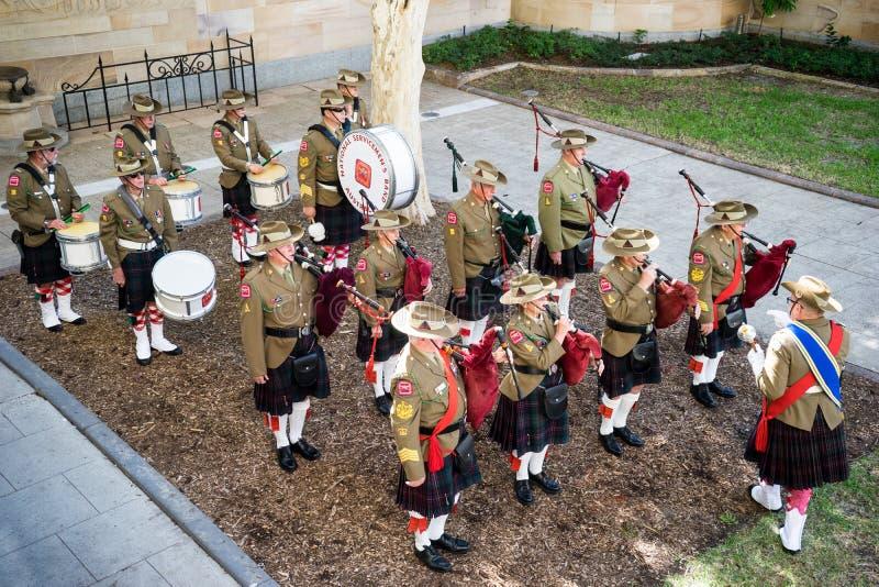 Banda del monumento de Servicemens fotos de archivo