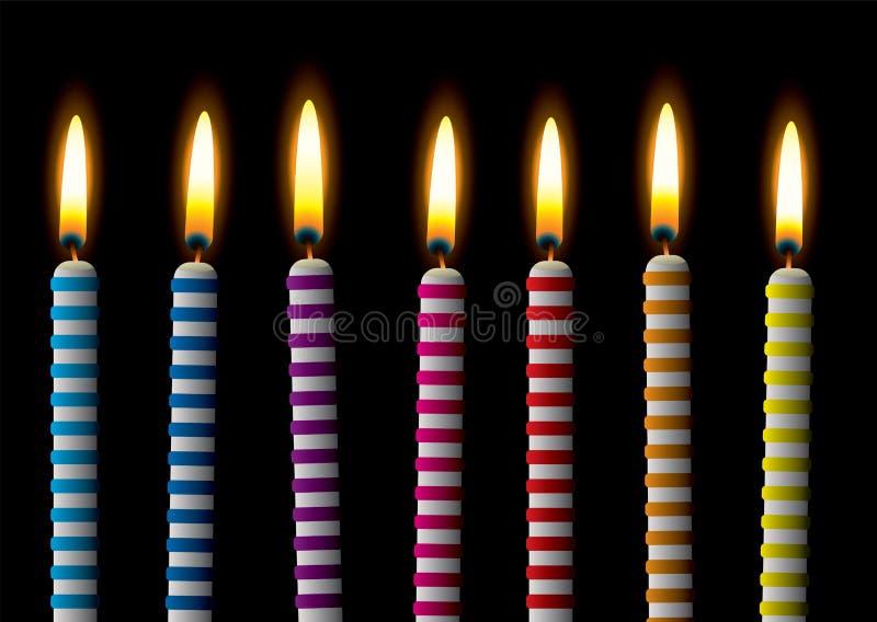 Banda della candela di compleanno illustrazione vettoriale