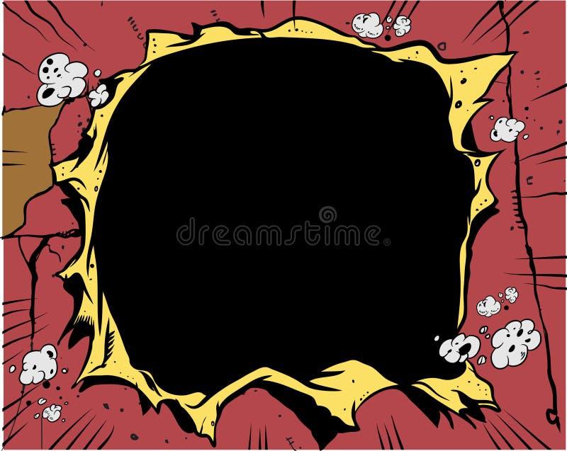 Banda desenhada - furo ilustração stock