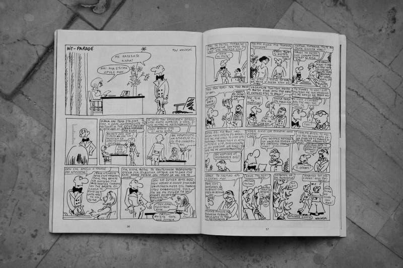 Banda desenhada pelo wolinski de Georges imagem de stock