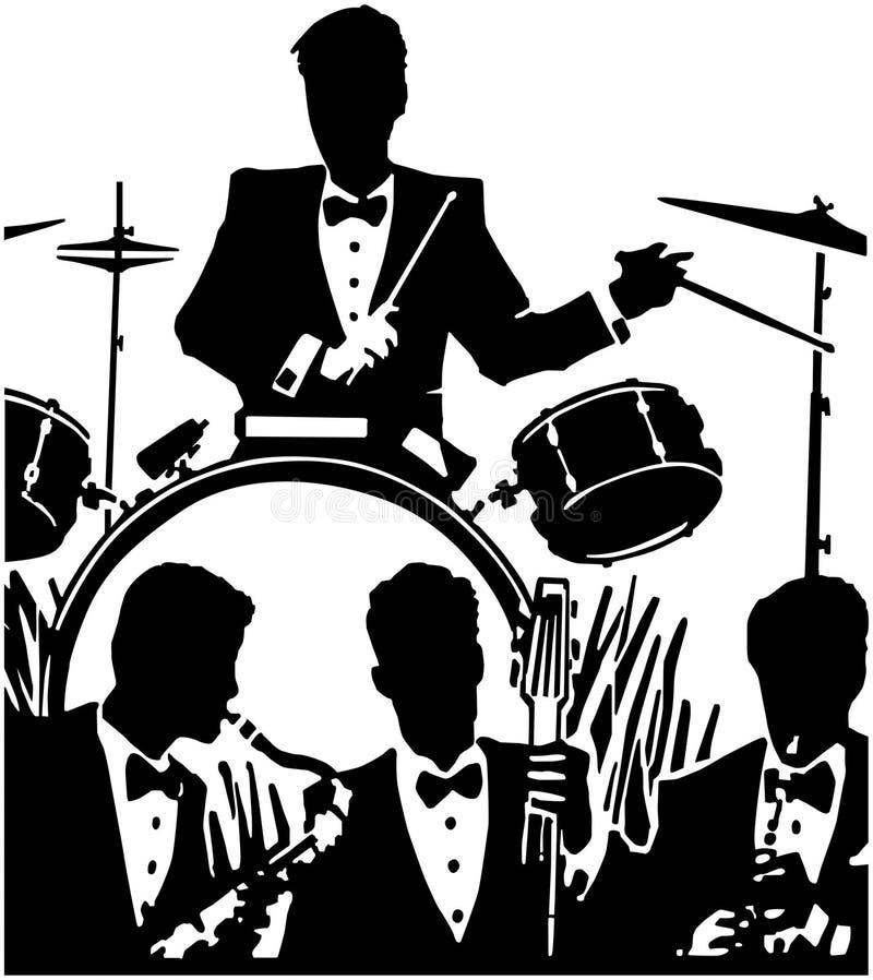 Banda di jazz royalty illustrazione gratis