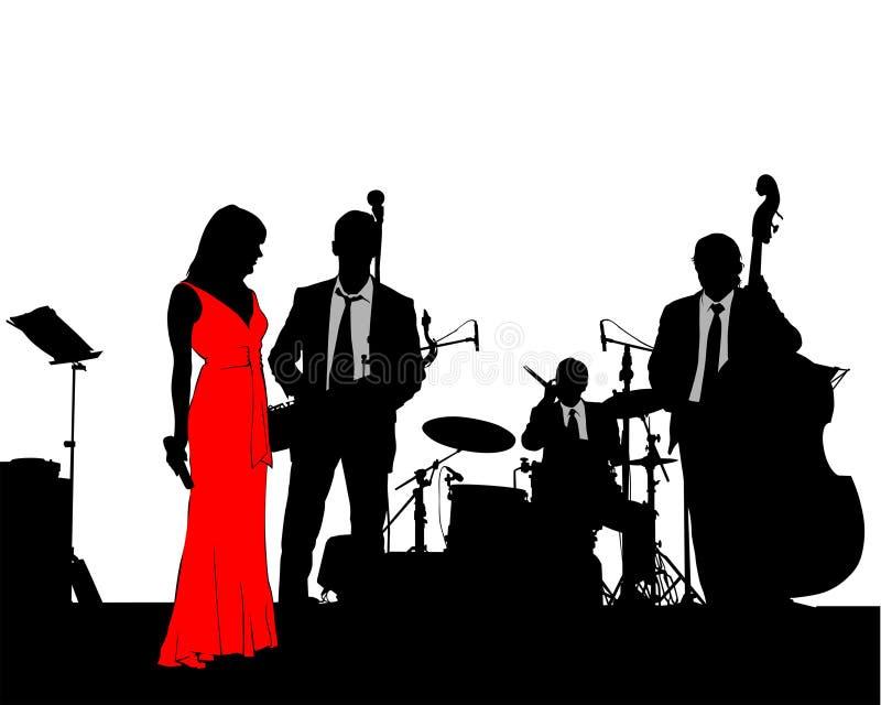 Banda di jazz due illustrazione di stock