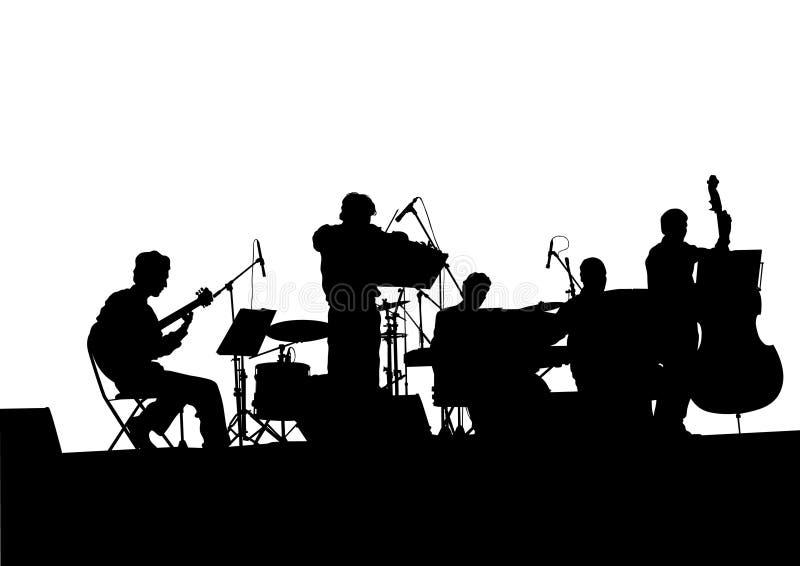 Banda di jazz musicale royalty illustrazione gratis