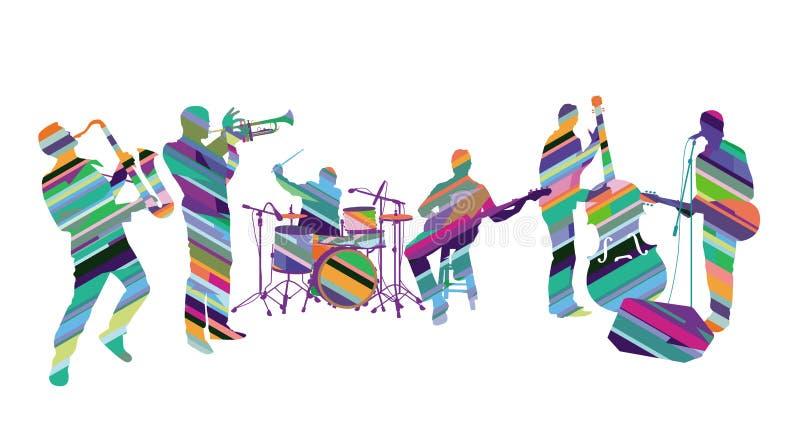 Banda di musica in scena royalty illustrazione gratis