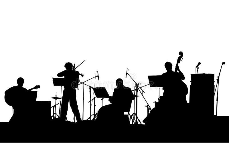 Banda di musical di jazz illustrazione vettoriale