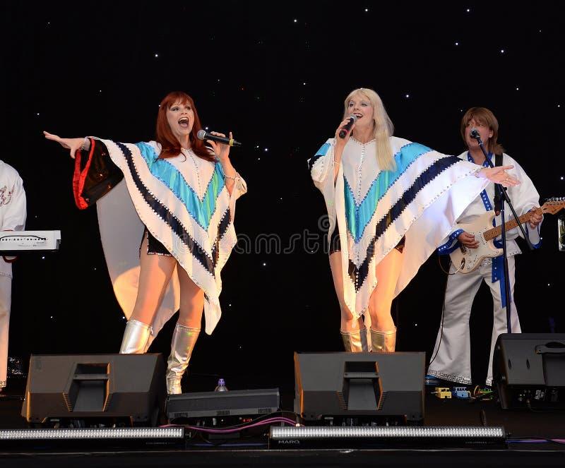Banda di tributo di ABBA fotografia stock libera da diritti