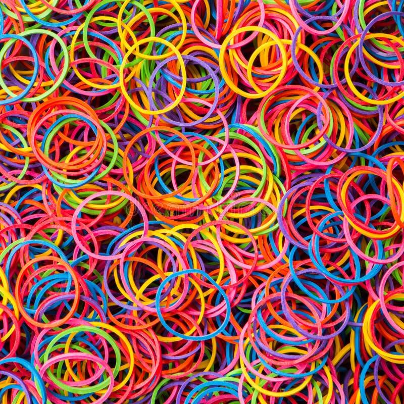 Banda elastica variopinta fotografie stock